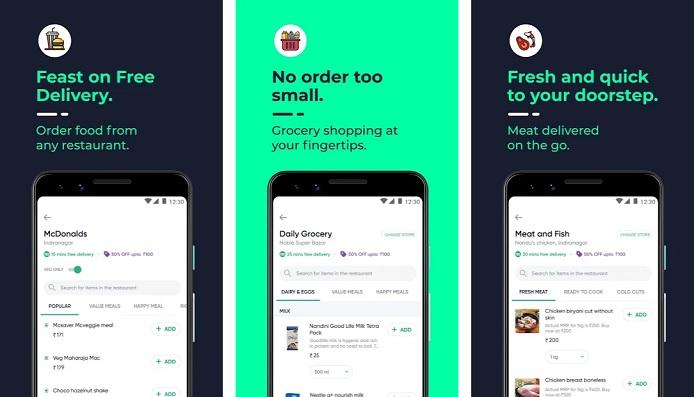 Dunzo |  Application de livraison pour la nourriture, l'épicerie et plus - Répertoire en ligne des applications mobiles et tablettes - AppsDiary