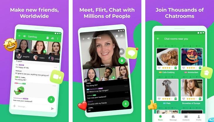 Camfrog: Chat Flirt Video, w/ Strangers & Friends App